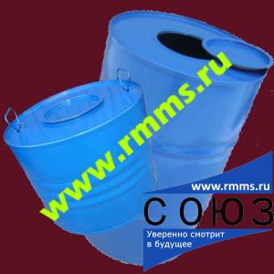 Барабан стальной 50 литров, 100 литров с крышкой Хлопок ГОСТ 5044-79